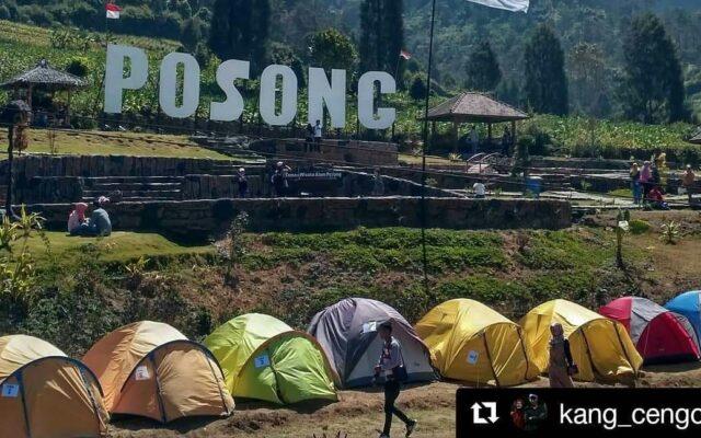 Berkemah di taman wisata Posong Temanggung Jawa Tengah