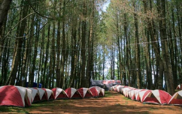 Tenda pengunjung yang berkemah