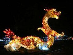 Lampion berbentuk Naga di Taman Pelangi Jurug Solo