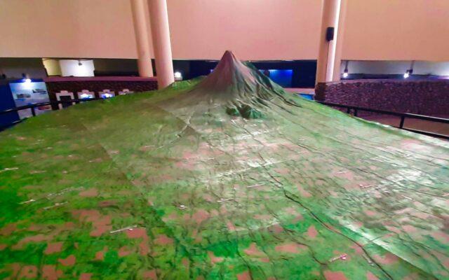 Maket Gunung museum volkanologi