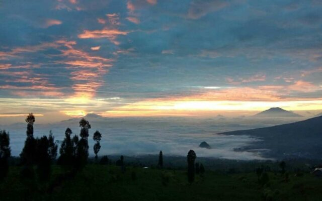 Menanti matahari terbit di Taman Wisata Posong Temanggung Jawa Tengah