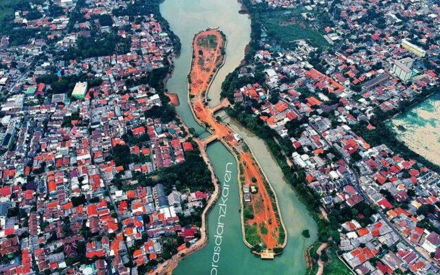 Pemandangan Setu Babakan Jakarta dari udara - prasdanzkaren