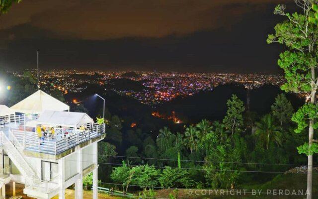 Pemandangan malam kota Bandar Lampung