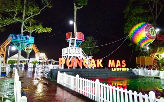 Spot Foto Puncak Mas Lampung Malam Hari