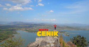 Puncak batu wisata Watu Cenik Wonogiri Jawa Tengah