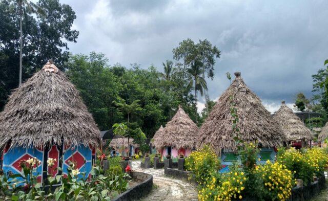 Rumah Khas Tradisional suku Afrika di Kampung Afrika Blitar Jawa Timur