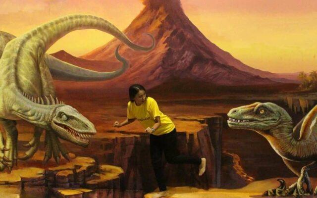 Salah satu lukisan di zona Dinosaur Museum 3D Kota Tua