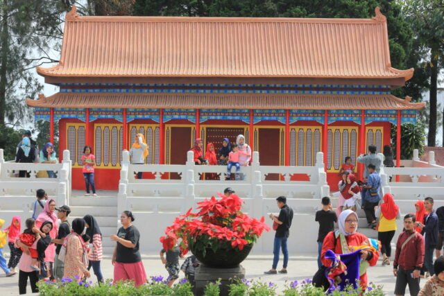 Spot Foto dengan Nuansa Kuil di China