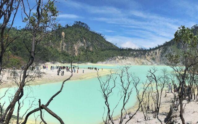 Kawah Putih Bandung terbentuk secara alami dari hasil letusan Gunung Patuha dengan endapan tuff putih