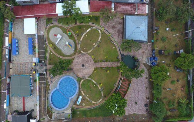 Taman Pemuda Pratama dilihat dari atas ketinggian