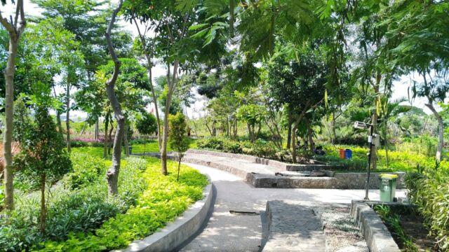 area taman kebun bibit wonorejo yang tertata rapi