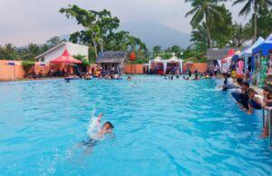kolam pemandian cikoromoy pandeglang banten