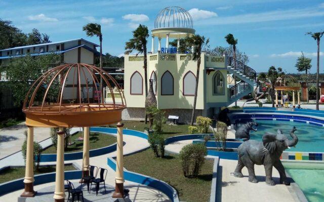 area taman dan kolam renang river walk boja kendal