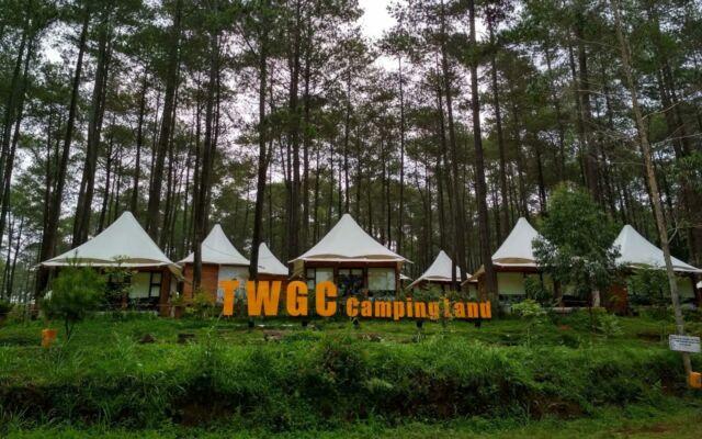 deretan penginapan dan camping ground di TWGC