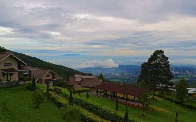 Villa Pondok Panorama Umbul Sidomukti dengan keindahan alam pegunungan