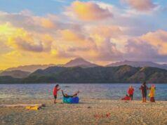 Pantai pulau noko di gugusan pulau bawean
