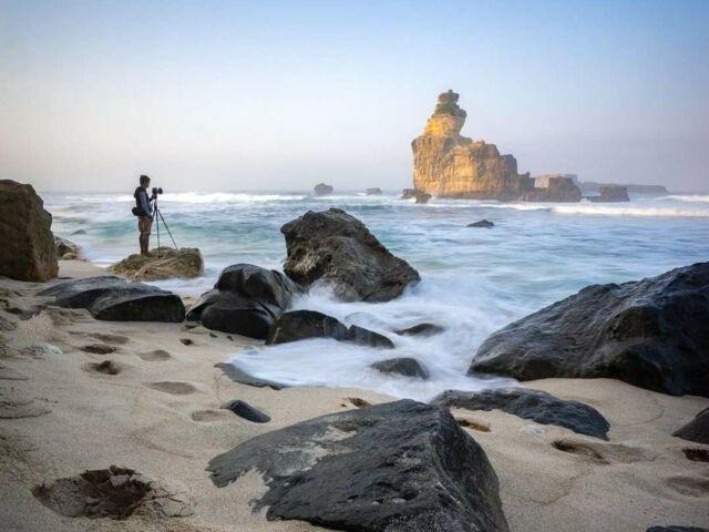 Hunting foto di Pantai Buyutan