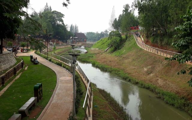 area taman kota bsd yang dilewati sungai