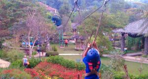 wahana flying fox anak