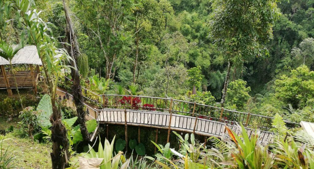 Jembatan Bambu menuju Pondokan