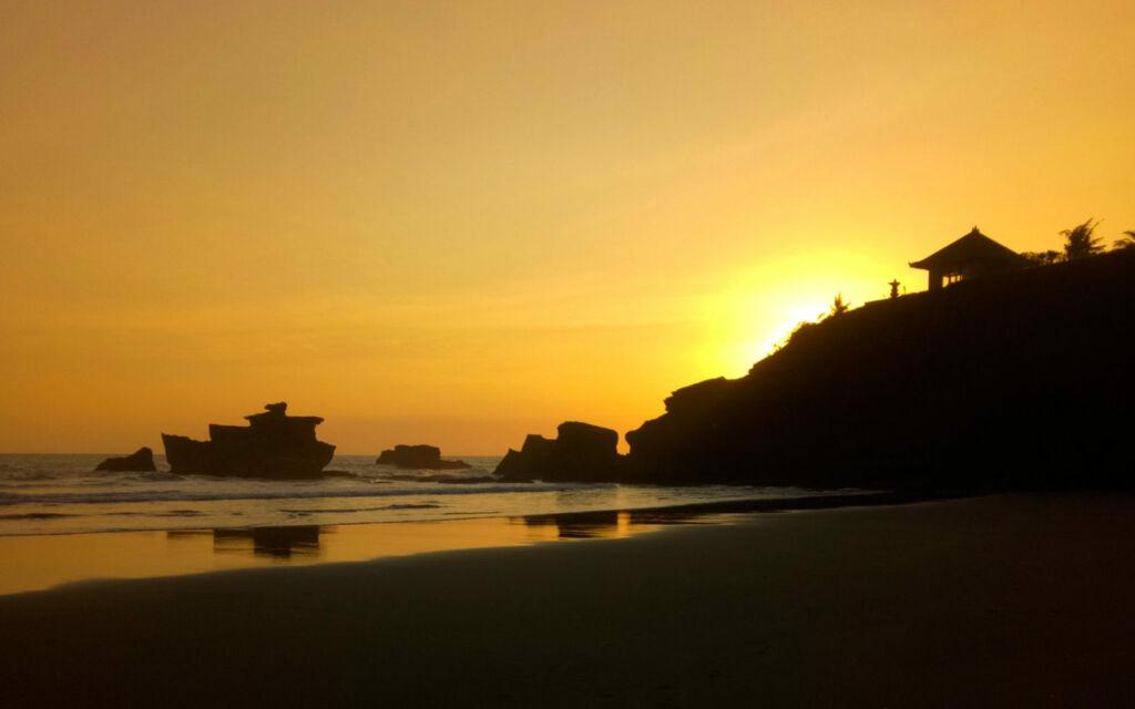 sunset di pantai balian