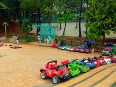 wahana mobil-mobilan anak di taman kota bsd
