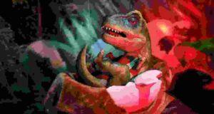 Salah satu replika bayi dinosaurus