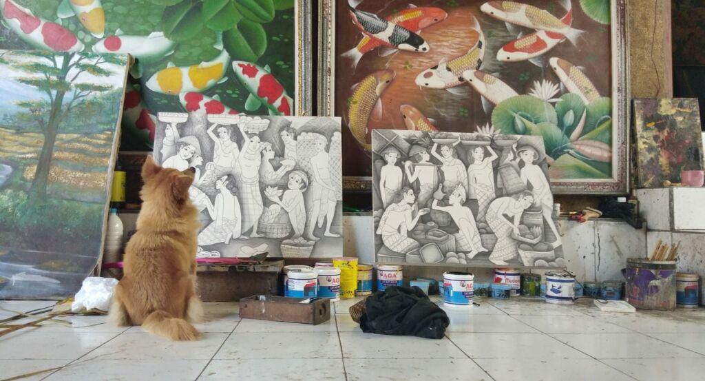 Lukisan di Pasar Seni Sukawati