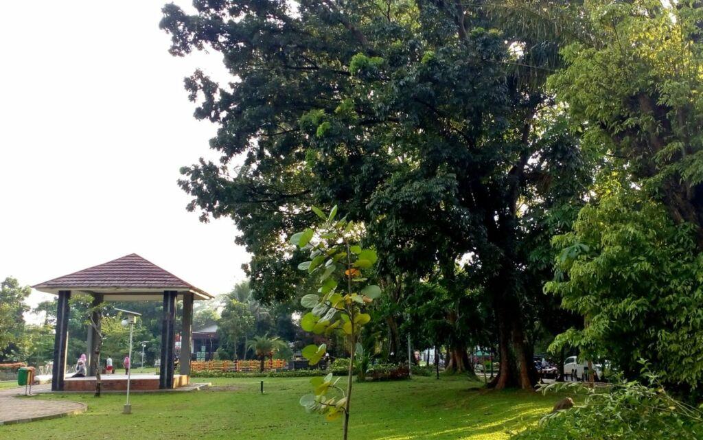 Pepohonan rindang di Taman Heulang