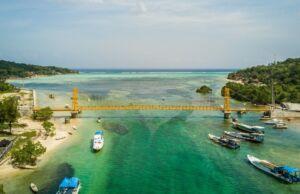 Indahnya alam sekitar yellow bridge