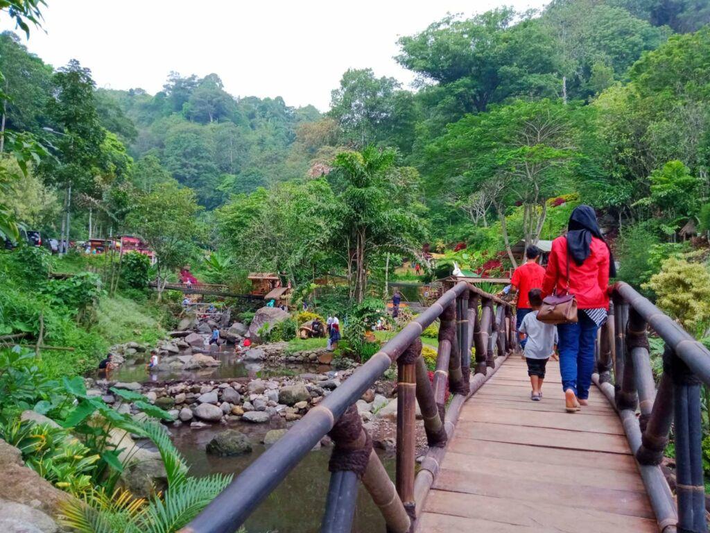 keindahan taman menuju lokasi air terjun
