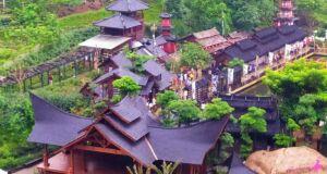 bangunan bergaya jepang di the great asia africa