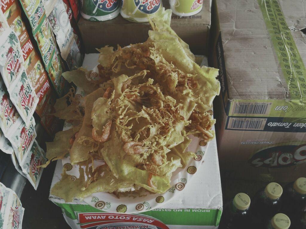 Gorengan udang khas PRPM Bekasi