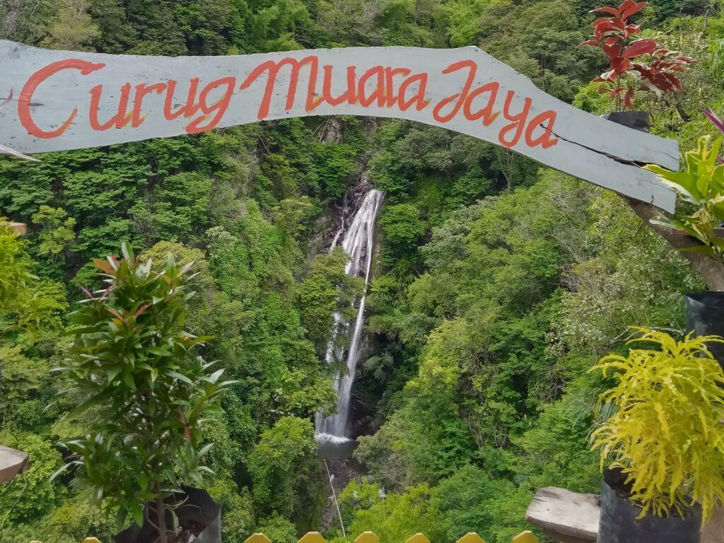 Curug Muara Jaya dari jauh