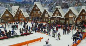 Bermain ski di trans snow world bintaro
