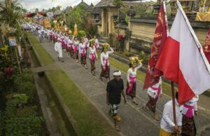 Gelaran upacara adat di Desa Penglipuran Bangli Bali