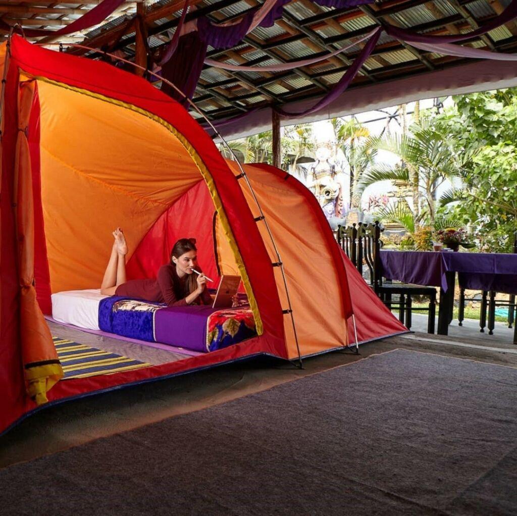 Hiker's camp memberikan pengalaman menginap dalam tenda di area Toya Devasya Bangli Bali - toyadevasya