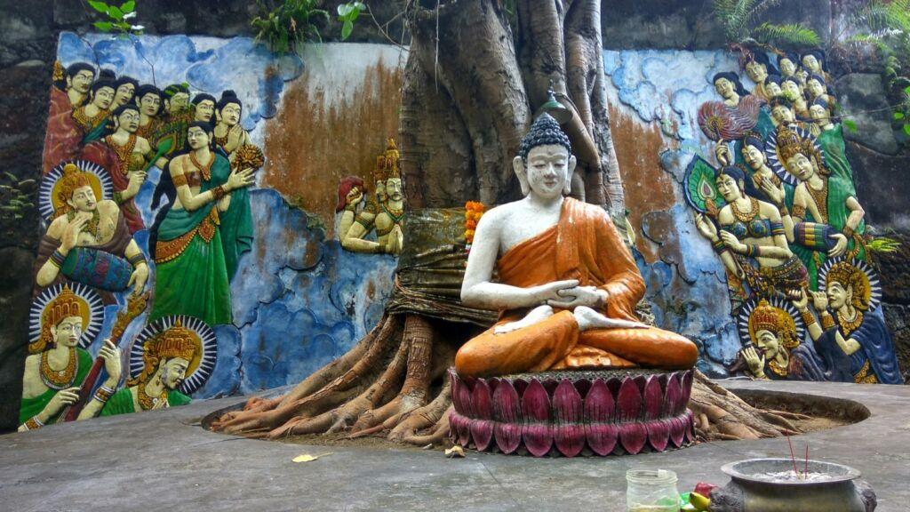 Salah Satu Patung Budha di Vihara