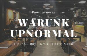 promo warunk upnormal buy 1 get 1 free