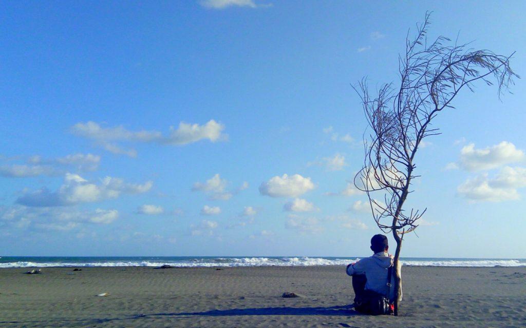 area tepi pantai yang sunyi