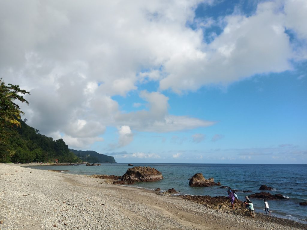 area tepi pantai yang sangat bersih