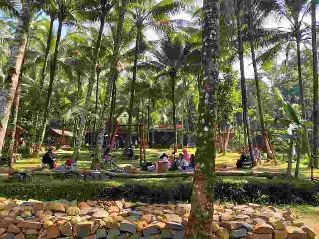 Hijau dan Asrinya objek wisata pereng cilongok dengan rimbunan pohon