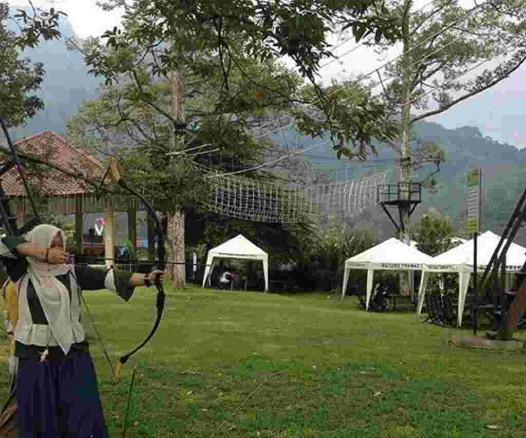 area kegiatan outdoor panahan dan outbond