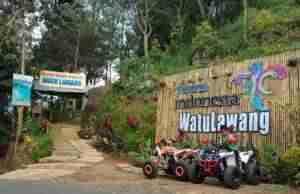 wahana ATV di objek wisata watu lawang