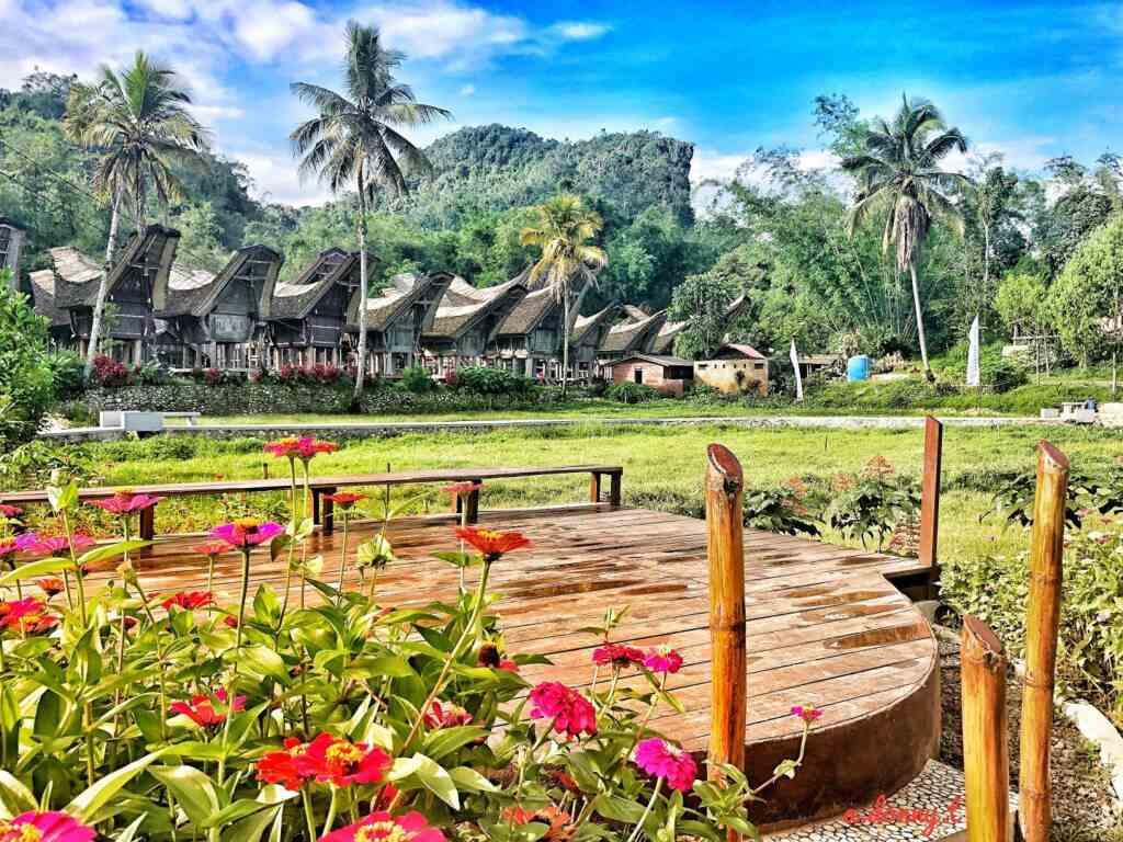 Suasana desa wisata Kete Kesu Toraja