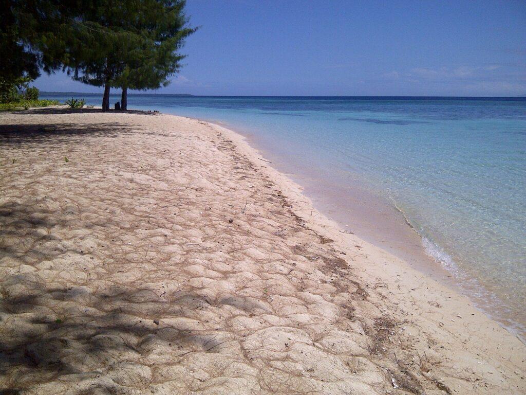 Bentang pasir putih di Pantai Cemara Wakatobi