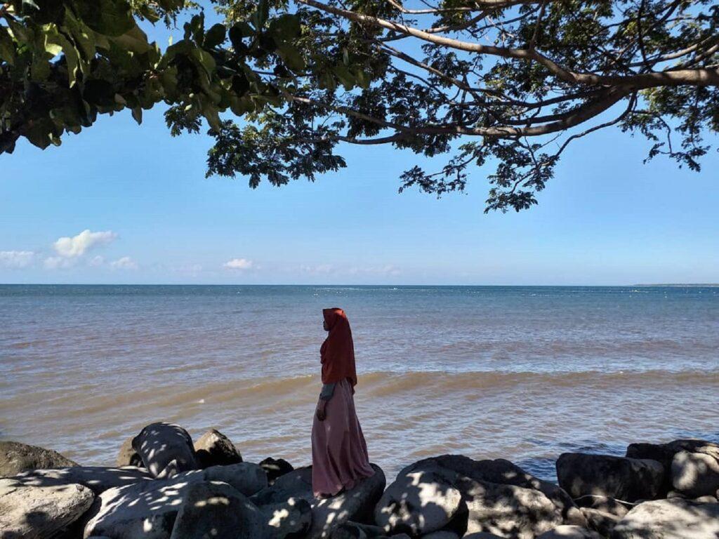 garis pantai yang panjang membentang
