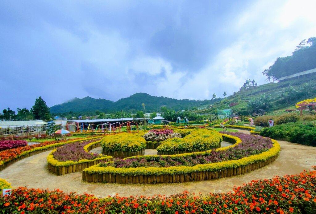 Taman Bunga yang Ditata dengan sangat Rapi