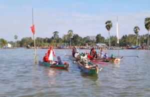 kemeriahan festival di danau tempe wajo