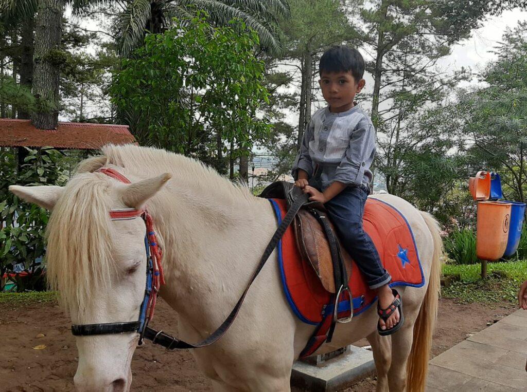 Menunggangi Kuda di sekitar area benteng